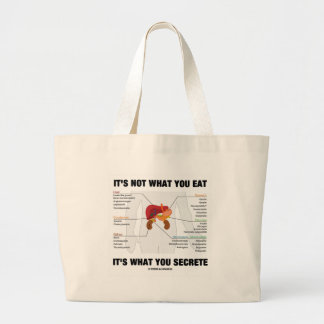 It's Not What You Eat It's What You Secrete Large Tote Bag