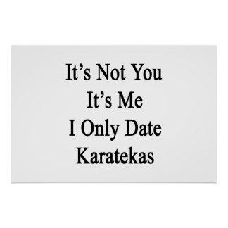 It's Not You It's Me I Only Date Karatekas Poster