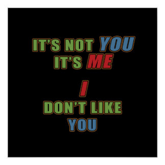 It's not You It's Me Poster