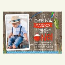 Its O-fish-al Photo1st Birthday Invitation For Boy