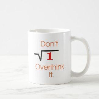 It's obvious. classic white coffee mug