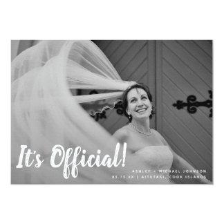 It's Official 2 Photo Wedding Announcement