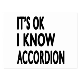 It's Ok I Know Accordion Postcard