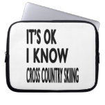 It's OK I Know Cross Country Skiing Dance Laptop Sleeve