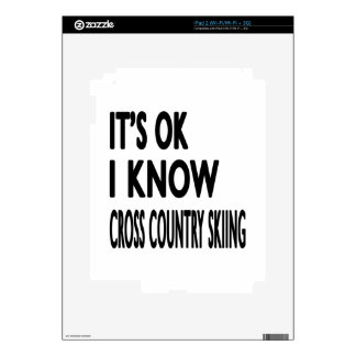 It's OK I Know Cross Country Skiing Dance Decals For The iPad 2