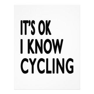 It's OK I Know Cycling Dance Customized Letterhead