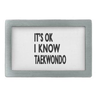 It's Ok I know Taekwondo Belt Buckle