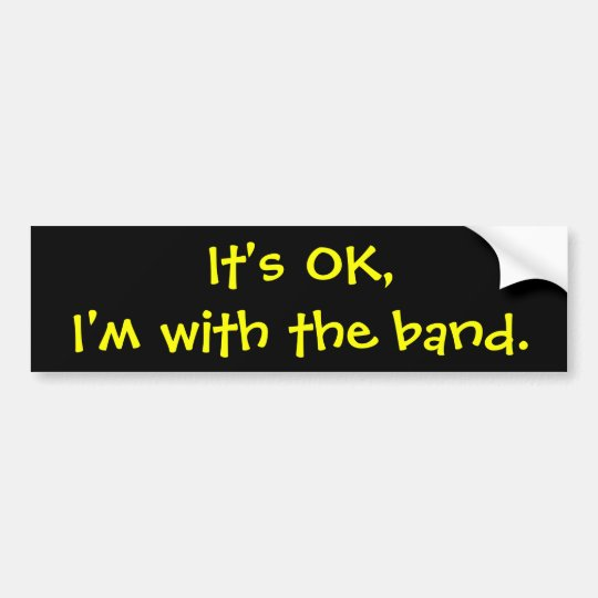 Its okim with the band bumper sticker