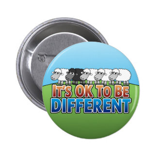 It's OK to be Different BLACK SHEEP Button