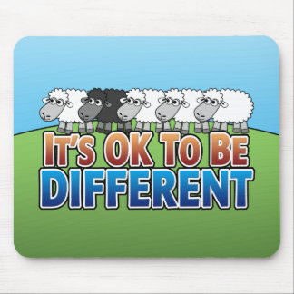 It's OK to be Different BLACK SHEEP Mouse Pad