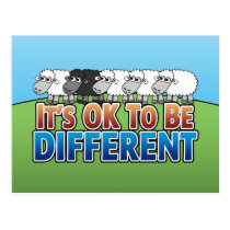 It's OK to be Different BLACK SHEEP Postcard