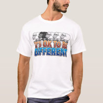 It's OK to be Different BLACK SHEEP T-Shirt