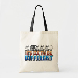 It's OK to be Different BLACK SHEEP Tote Bag