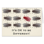I'ts OK to be Different - Mutant Fruit Fly Cards