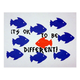It's ok to be different! postcard