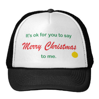 Its OK To Say Merry Christmas Mesh Hats