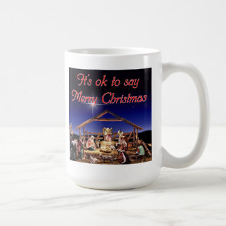 It's ok to say Merry Christmas Mug