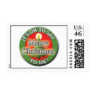 It's OK to Say Merry Christmas to Me Stamps stamp