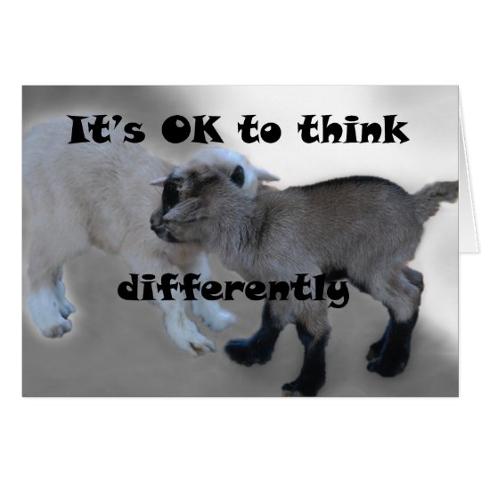 It's OK to Think Differently Card