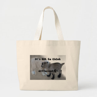 It's OK to Think Differently Large Tote Bag