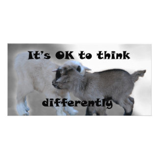 It's OK to Think Differently Photo Card