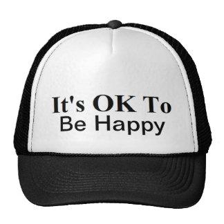 It's OK Trucker Hat  100% polyester foam front