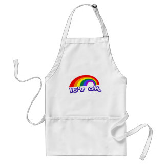 """It's ok"" with rainbow Adult Apron"