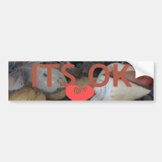 Its Okay My heart Customize Product Bumper Sticker