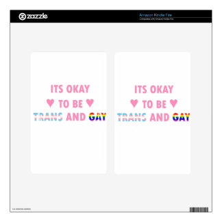 It's Okay To Be Trans And Gay (v1) Kindle Fire Decal