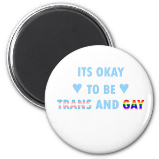 It's Okay To Be Trans And Gay (v2) Magnet