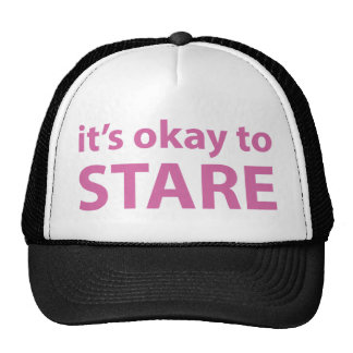 It's okay to stare hat