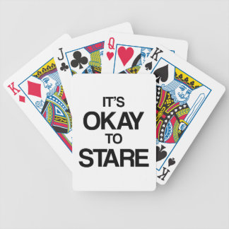 It's okay to stare bicycle card deck