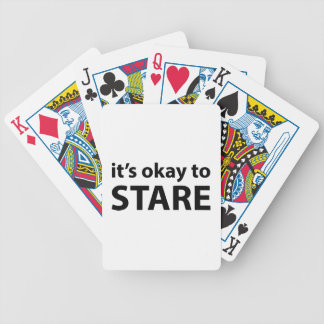 It's okay to stare bicycle card decks