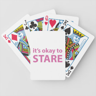 It's okay to stare bicycle poker deck