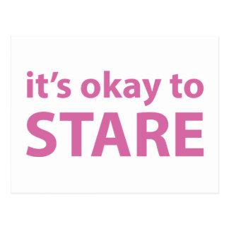 It's okay to stare postcard