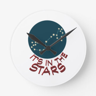 Its on the star Scorpio Round Clock