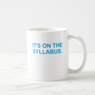 It's On The Syllabus (blue) Mugs