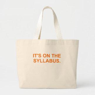 It's On The Syllabus (orange) Large Tote Bag