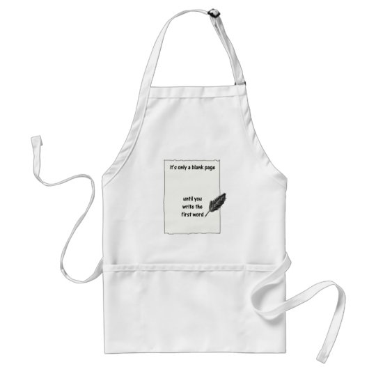 It's only a blank page... adult apron