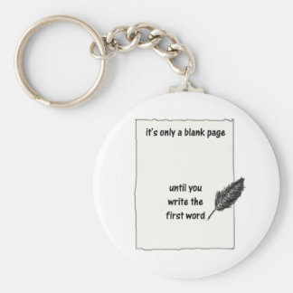 It's only a blank page... basic round button keychain