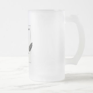 It's only a blank page... frosted glass beer mug