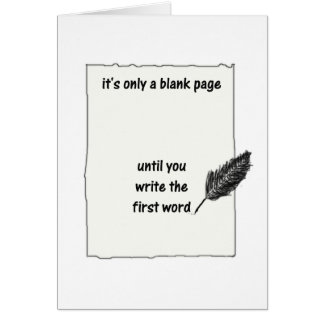 It's only a blank page... greeting card