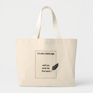 It's only a blank page... large tote bag