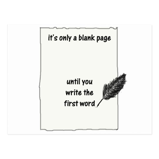 It's only a blank page... postcard