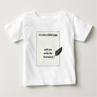 It's only a blank page... t shirts