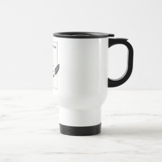 It's only a blank page... travel mug