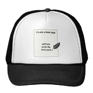 It's only a blank page... trucker hat