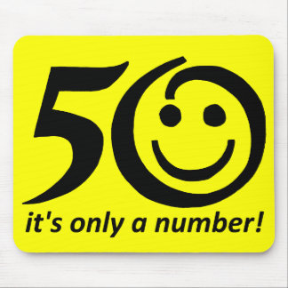 it's only a number, black yellow 50 mouse pad