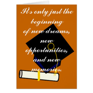 It's Only Just the Beginning Graduation Card