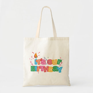 It's Our Birthday Letters Tote Bag